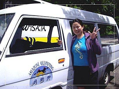 9702峇里島之旅:峇里島-無窗敞篷接駁車