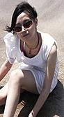 白沙灣+淡水=曬傷(嗚...):今天太陽很大,風也很大