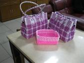 我的作品:編織皮包與小藍子.jpg