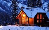網路的圖片:冬夜的雪景