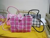 我的作品:編織皮包與小蘭子jpg