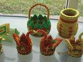 我的作品:四色牌編織作品