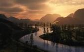 落日系列:星空下的獨白 一爭什麼 滾滾長江東流 浪花濤盡英雄 是非成敗轉成空 青山依舊在 幾度夕陽紅.jpg