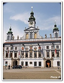 96捷克-帖契......:A76110473公平勇氣智慧謹慎四雕像-市政廳-巴德傑維契