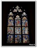 96捷克-窗之藝術:A76152597彩繪玻璃-聖維塔教堂-布拉格