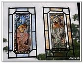 96捷克-櫥窗商品:A76152760彩繪玻璃飾品-黃金巷-布拉格
