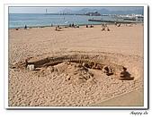94南法普羅旺斯:101A0137鱷魚沙雕-坎城海灘