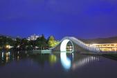 夜。大湖公園: