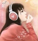 可愛女孩:聽音樂ㄉ女孩