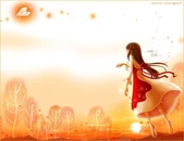 女孩:橘色女孩