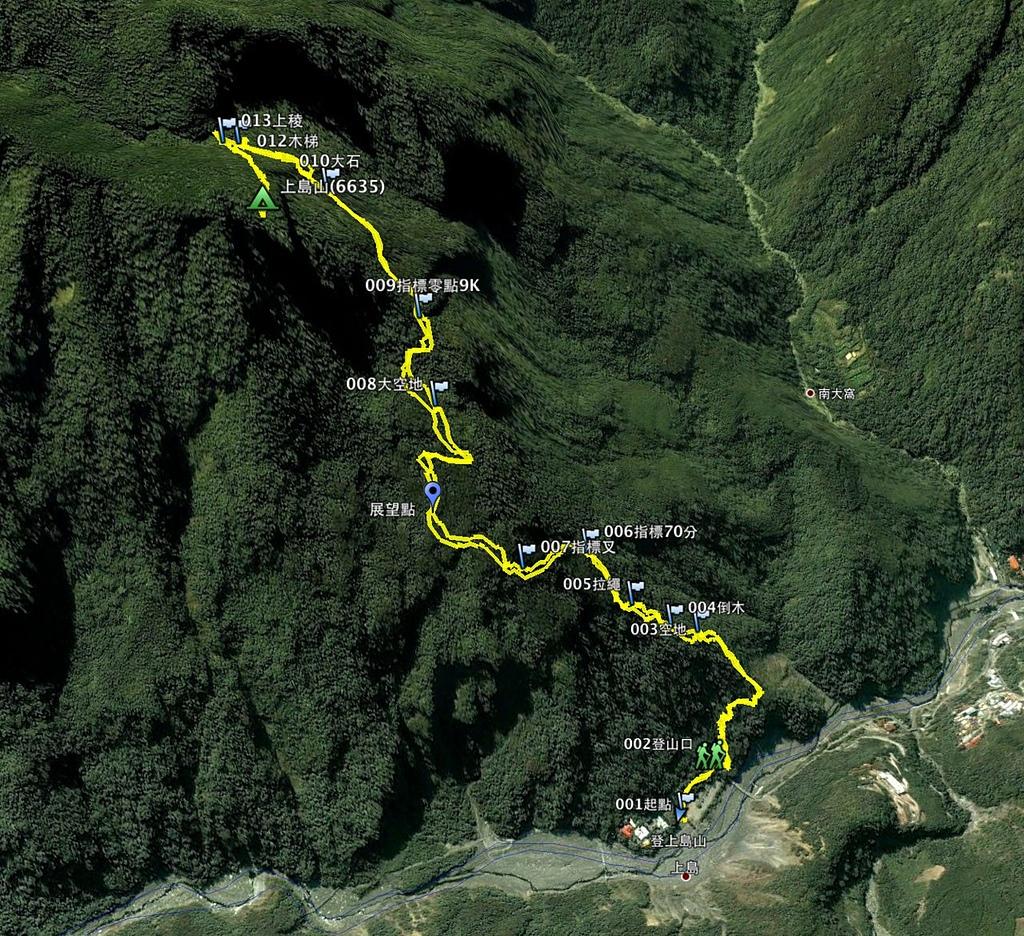 水雲三星之上島山:上島山航跡圖