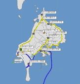 澎湖基石之旅:吉貝環島航跡圖(三基點)