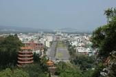 台東鯉魚山:鯉魚山遠眺東北方向的空軍志航基地,左方近處為龍鳳塔。