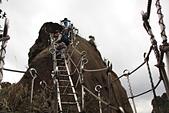 平溪孝子山慈母峰:登頂孝子山的不銹鋼梯