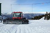 滑雪勝地惠斯勒:山上的剷雪車