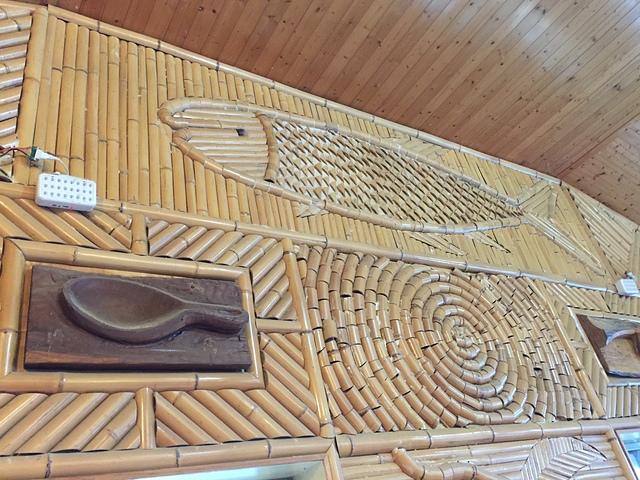 01C雅竹餐廳壁飾3.jpg - 司馬庫斯二日遊之三 司立富瀑布
