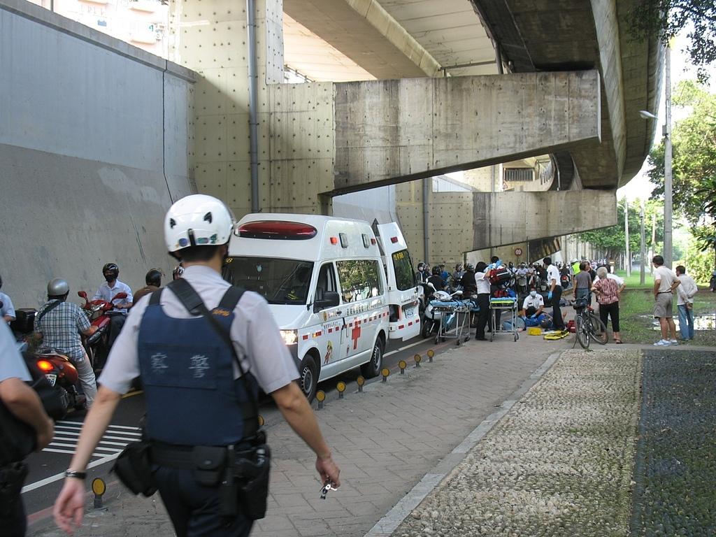 社子島基隆河單車行:堤外便道的車禍
