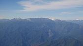 台北到台東的班機上:南湖中央尖雪景