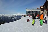滑雪勝地惠斯勒:準備出發的滑雪者