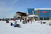 滑雪勝地惠斯勒:雙峰站前