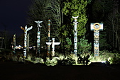史丹利公園(Stanley Park):夜間的圖騰區