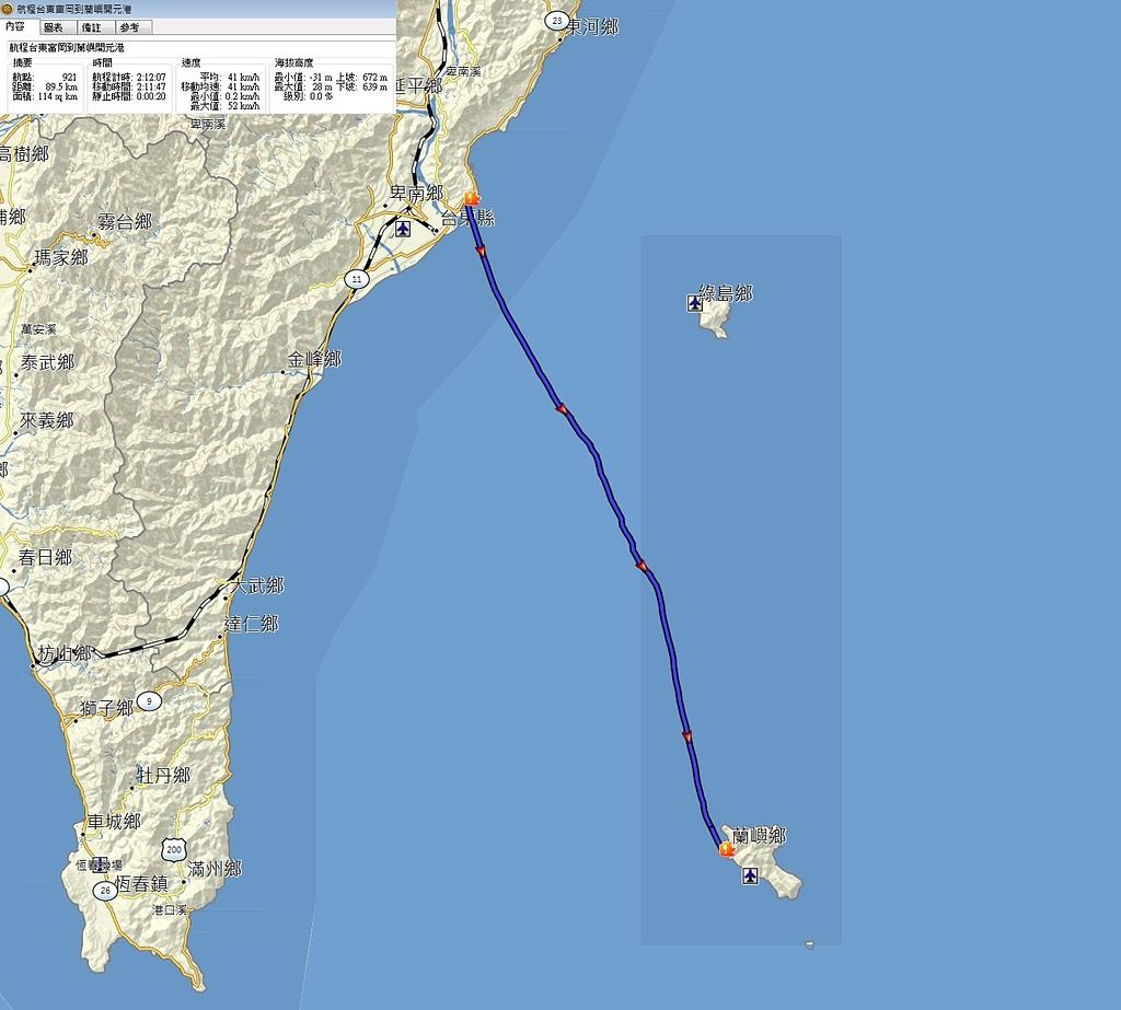 蘭嶼三日遊--D1台東到蘭嶼:航程台東到蘭嶼