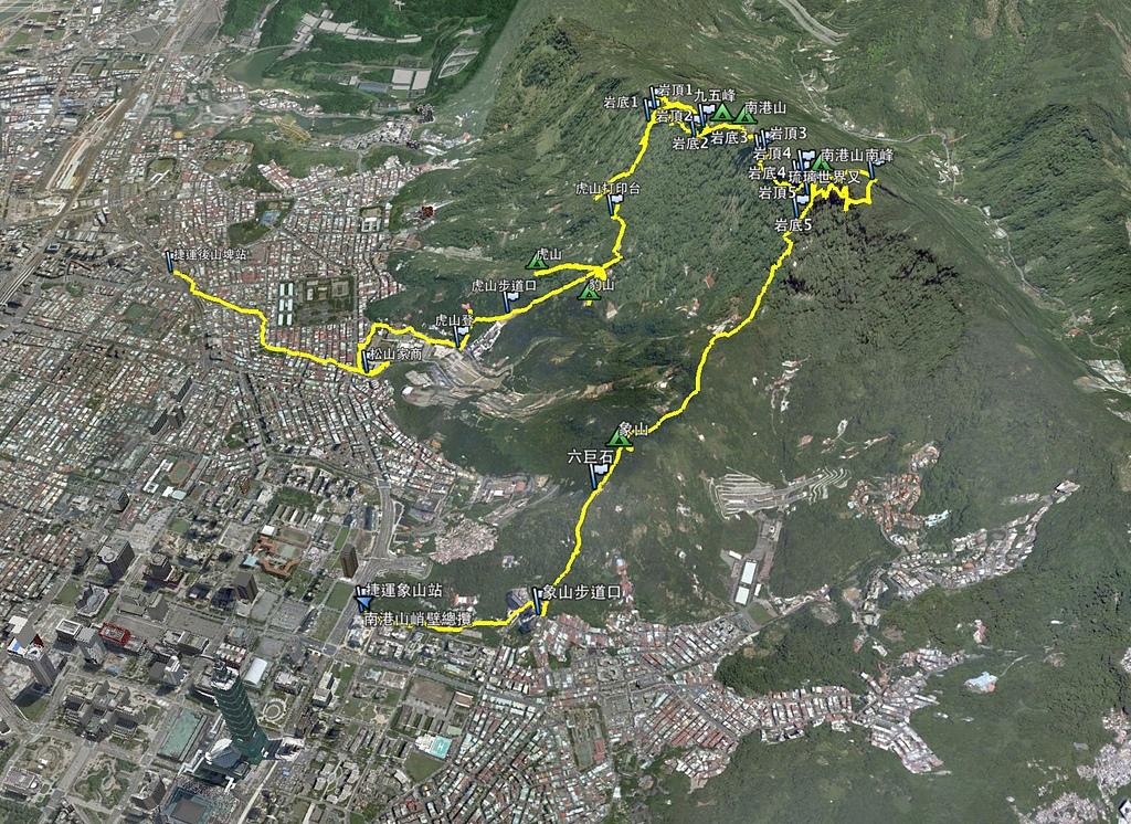 南港山峭壁總覽:南港山攀岩航跡圖.jpg