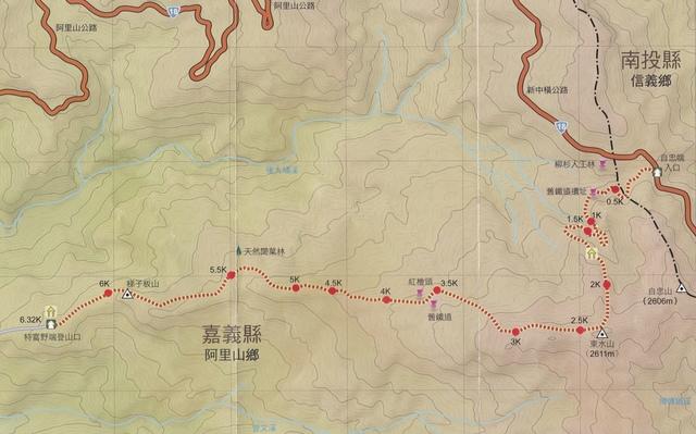 02特富野古道路線簡圖.jpg - 特富野古道東段
