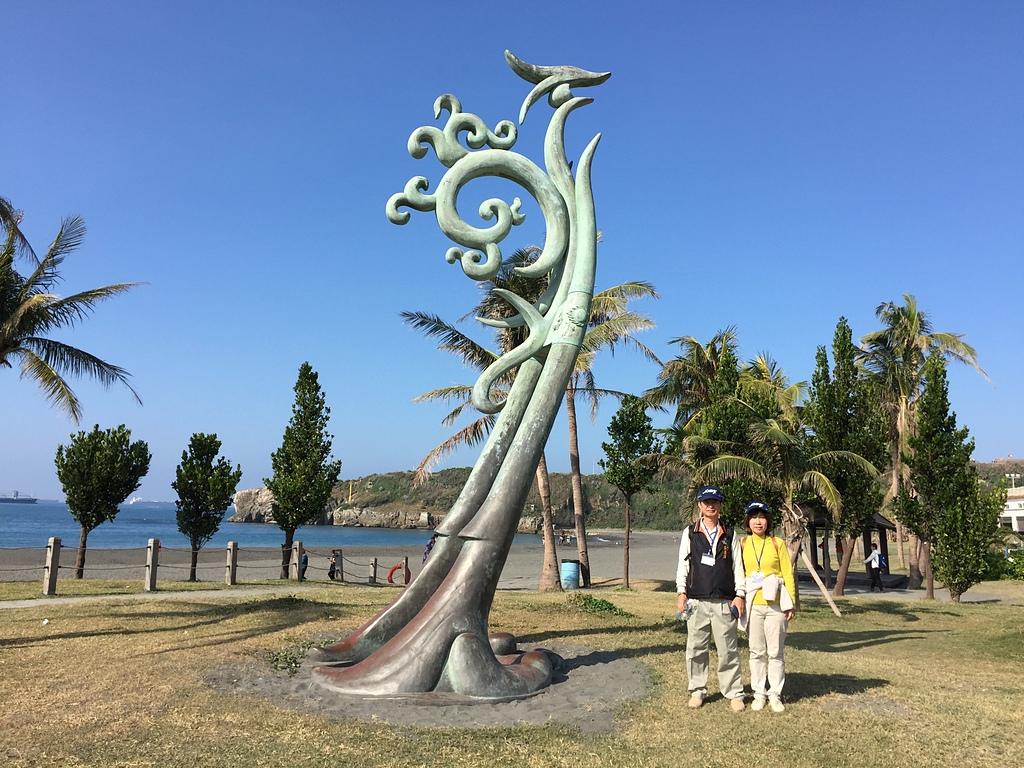 張康漢倆在旗津海水浴場 - 旗津海岸公園 旗後砲台 高雄燈塔