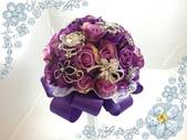 【歐式捧花】珠寶捧花 BY 小均設計製作(客製&出租):珠寶捧花_深紫色_