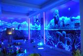 牆壁彩繪(3D立體彩繪,夜光彩繪,住家彩繪,民宿彩繪,etc):17台中彩繪-3D海洋動物夜光彩繪4(雅興餐廳).jpg
