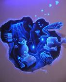 牆壁彩繪(3D立體彩繪,夜光彩繪,住家彩繪,民宿彩繪,etc):07宜蘭民宿彩繪-3D海底世界夜光彩繪2.JPG