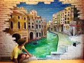 牆壁彩繪(3D立體彩繪,夜光彩繪,住家彩繪,民宿彩繪,etc):13台南餐廳彩繪-威尼斯(伍巷餐廳).jpg