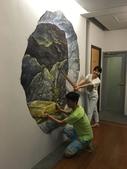 牆壁彩繪(3D立體彩繪,夜光彩繪,住家彩繪,民宿彩繪,etc):10宜蘭旅館牆壁彩繪-(若輕新人文度假旅館)3d金礦.JPG