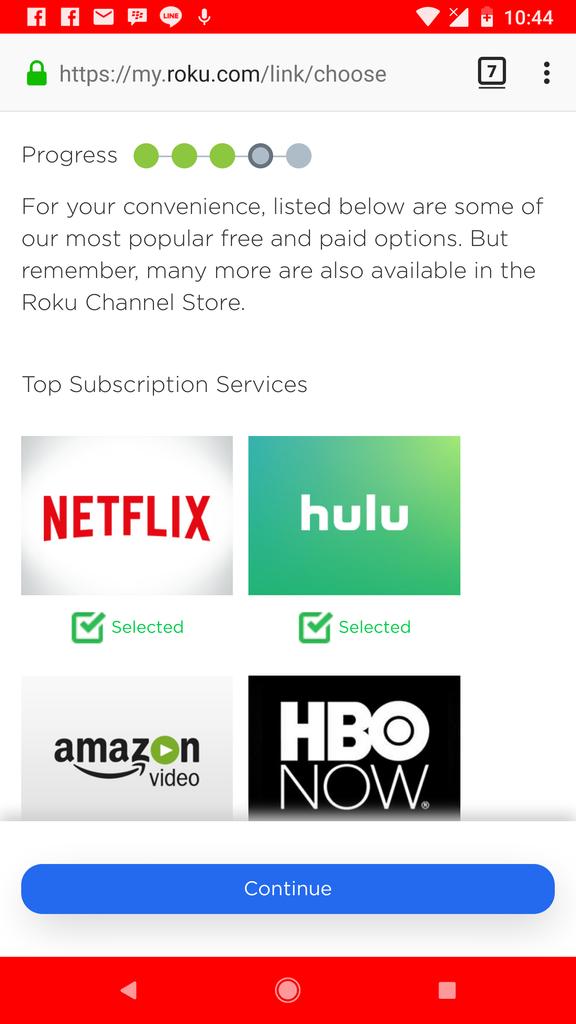 [Roku]Roku Express可一次享有Netflix、Amazon Video、Google:Screenshot_20171221-224438.png