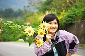 20071229-20080101台東:這4朵花彷彿在引誘路過的人駐足與她合照
