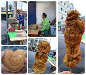 20140228-0302 再訪小琉球  Siaoliouciou,Taiwan:耶!我們也有烤肉吃.這傢伙竟然就很自然地坐下來跟老闆聊天等東西(不過我後來也拿了椅子坐在旁邊,哈)超好吃,推薦!