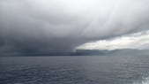 20170405 Ambon Diving 安汶潛水趣:喔喔~~非常不妙的天氣現象,船還沒開出安汶灣,就一股風雨欲來的壓倒性氣勢