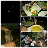 20180403_Amed_Bali 巴里島Amed潛水 Part 2:到附近一間餐廳用餐,整間餐廳只有我們一組客人,真是low season.在一個可看稀微夜景的戶外用餐