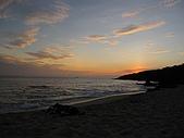 20091018再訪墾丁第二彈 Kenting:騎到白沙灣,本想看夕陽,卻發現被山擋住了