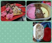 20180407_Amed_Bali 巴里島Amed潛水 (End):左上是在GadoGado吃的飯後甜點,後來我們在超市看到右上的冰淇淋,就說:老闆一定是買這個來賣!
