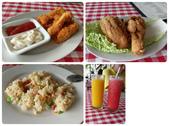 20171004-1011_Anilao Part I:左上-炸雞柳,好吃!(這家的炸物都好吃)左下-炒飯的份量跟一碗白飯一樣,很清淡.吃完睡午覺去(待續)