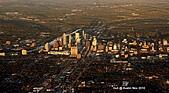 Austin, Texas:Aerial view of Austin. Bye bye.