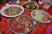 紅麴雞卷料理教學 健康飲食文化:紅麴油飯雞塊、蚌肉紅麴、魷魚紅麴、紅麴爌雞.JPG