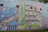 山佳鐵道紅到日本 大仙市長率公所團隊參訪 :陶瓷馬賽克的山佳車站圖.JPG