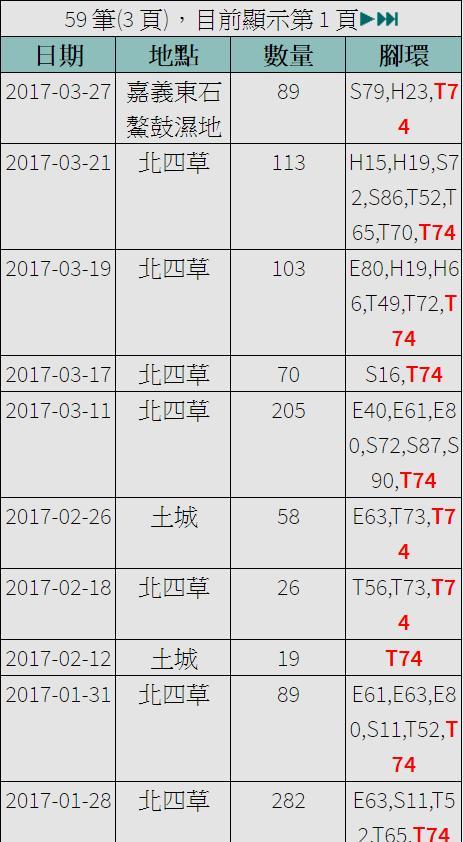 黑琵T74在台紀錄-20170327.jpg - 黑面琵鷺