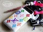 手工珠包:11/0圓珠系列:LV手機袋