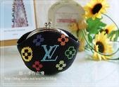 手工珠包:11/0圓珠系列:LV黑彩
